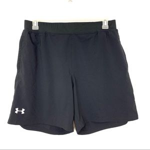 Under Armour Black Fitted Athletic Shorts Size XL
